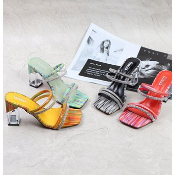 New fashion sexy design word with sandals and slippers