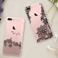 Womens Sexy Lace Case Cover for iPhone 7 7 Plus & iPhone se 5s 6 6s Plus +Gift Box