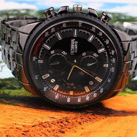 Stainless Steel Quartz Water Resistant Business Watch