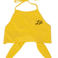 Lit Yellow Halter Top