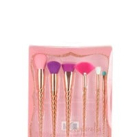 6 pcs Two Tone Gold Unicorn Makeup Brush Set