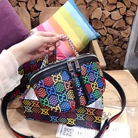 GUCCI x DISNEY Color Letter Print Chest Bag Waist Bag Shoulder Bag