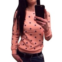 Women Star Print Sweater