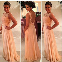 2014 new womens Formal backless Long Lace dress Prom Evening Party Bridesmaid Dresses