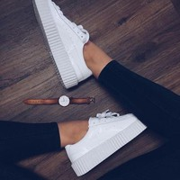 PUMA Women Casual Running Sport Shoes Sneakers Pure white