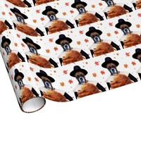 Thanksgiving Boxer dog gift wrapping paper