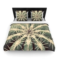 """Angie Turner """"Cactus"""" Plant Woven Duvet Cover"""