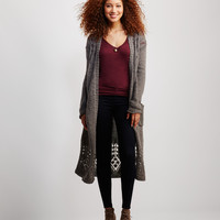 Open-Knit Accent Duster