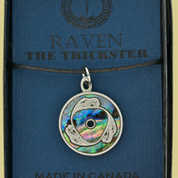 Native Pewter Raven Hand Crafted Pendent