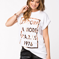 SS LA MODE ROSE GOLD FOIL - T-shirt in oversize fit by RIVER ISLAND