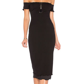 Privacy Please Caperton Dress Black