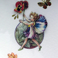 Fairy Hand-Crafted 3D Decoupage Card - Blank for any Occasion (1703)