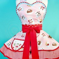 Mayberry Pie Diner Waitress Apron by dotsdiner on Etsy