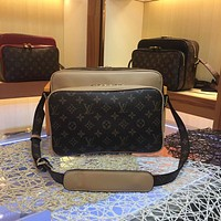LV Louis Vuitton MEN'S MONOGRAM CANVAS NIL SLIM CROSS BODY BAG