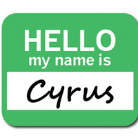 Cyrus Hello My Name Is Mouse Pad