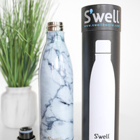 White Marble 25 oz Swell