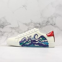 Gucci Ace Sneaker With Wave - Best Online Sale