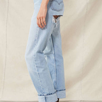 Urban Renewal Recycled Shredded-Back Levi's Jean   Urban Outfitters
