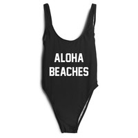 """Aloha Beaches"" Swimwear"