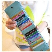 PU Leather Women Wallets Candy Color Card & ID Holders Women Wallet Ladies' Purses [7864117575]