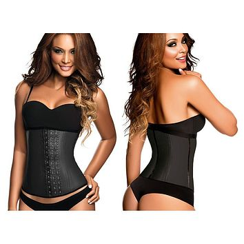 Ann Chery 2021 Classic 3 Hooks Latex Waist Cincher Shapewear Color Black