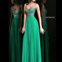 Strapless Sweetheart Sherri Hill Formal Prom Dress 8546