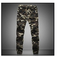 M-5X 2018 Mens Jogger Autumn Pencil Harem Pants Men Camouflage Military Pants Loose Comfortable Cargo Trousers Camo Joggers