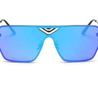 GAMT Large the Color Film Frame Windproof Sunglasses for Men and Women