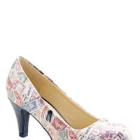 ModCloth Quirky Raise a Post Heel