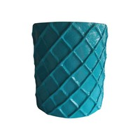 Pre-owned Turquoise Stool or Side Table