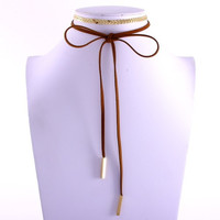 Diana Deluxe Choker - Black or Brown