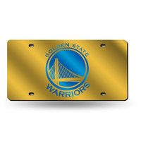 Golden State Warriors NBA Laser Cut License Plate Tag