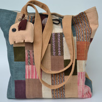 Cotton Tote Bag Mixed colors With Buttons On Side (CTB011)