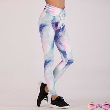 Women's Ombre Water Colored Leggings