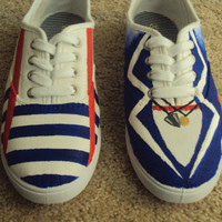One Direction  Larry Stylinson Painted Vans By by PaintedTravels