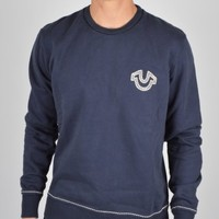 True Religion Horseshoe Crew Neck Sweatshirt - Dark Navy