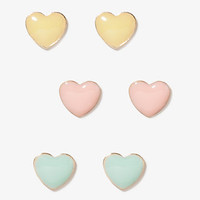 Lacquered Heart Stud Set