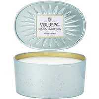 Oval Tin 2 Wick Candle ~ Casa Pacifica