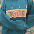 Vail Colorado - Awesome Vintage Oversized Slouchy Sweater, Tribal Southwest, Large / XL