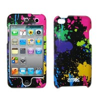 EMPIRE Paint Splatter Design Snap-On Cover Case for Apple iPod Touch 4 / 4th Generation