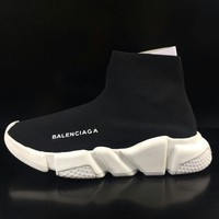 Men Elastic Speed Trainer Knit Sock Sneaker Sports Running Track Athletic Shoes