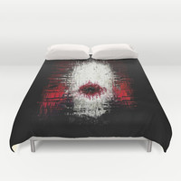 SlenderMan Duvet Cover by Brett66