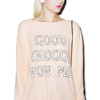 Wildfox Couture Good Enough Effortless Thermal Rose Macaron