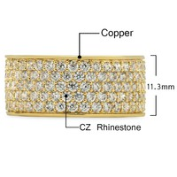 Men's Gold & Silver Iced Out Bling Ring