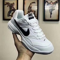 NIKE COURT LITE Fashion Women Men Casual Sport Fitness Tennis Sport Shoe Sneakers White I-MLDWX
