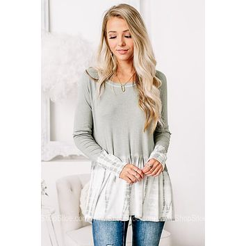 Live Your Life Rib Knit Babydoll Top