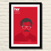 Her Movie Poster, Art Print, 11 X 17, Minimalist Poster, Home Decor