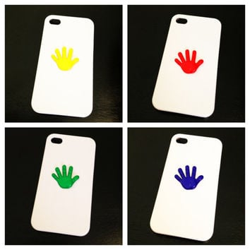 Talk To The Hand White Case iPhone 5 by LivingYoungDesigns on Etsy