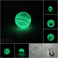 Glow in the Dark Glass Marble - Wormhole