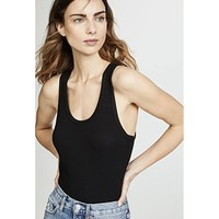 Tank Bodysuit Black